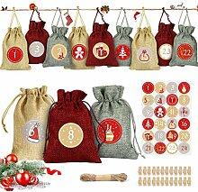 Adventskalender zum Befüllen,Fabric Advent