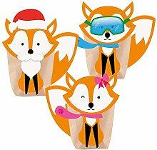 Adventskalender zum Befüllen Foxy Christmas 24