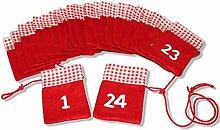 Adventskalender zum selber befüllen. Rote