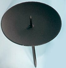 Adventskerzenhalter Schwarz | Metall | Ø: 7,5 cm