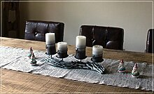 Adventskranz mit Kerzen Kerzenleuchter Treibholz