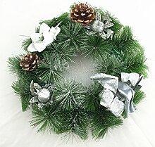 Adventskranz mit Weihnachtsschmuck 28cm