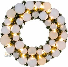 Adventskranz Weihnachtskranz mit Kugeln, Ø 39 cm,