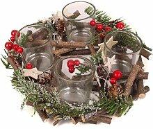 Adventskranz Weihnachtszauber für 4 Teelichter,