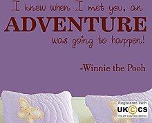 Adventure Cute Zitat Winnie The Pooh Kinderzimmer