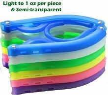 adwaita 8Stück (bunt) PP faltbar Kleiderbügel Leichtes Gewicht, halbtransparent, rutschfeste function-can verwendet werden wie Baby Kleiderbügel und Kleiderbügel für Erwachsene