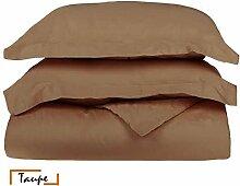 Ägyptische Baumwolle 500-thread-count 1Bettbezug/Quilt Cover {Reißverschluss} wählen Sie Farbe und Größe (alle Größen und Farben), ägyptische Baumwolle, taupe, Emperor