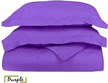 Ägyptische Baumwolle 500-thread-count 1Bettbezug/Quilt Cover {Taste Schließung} wählen Sie Farbe und Größe (alle Größen und Farben), ägyptische Baumwolle, violett, UK Super King