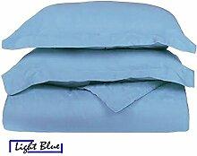 Ägyptische Baumwolle 600-thread-count 1Bettbezug/Quilt Cover {Reißverschluss} wählen Sie Farbe und Größe (alle Größen und Farben), ägyptische Baumwolle, hellblau, Euro Double IKEA