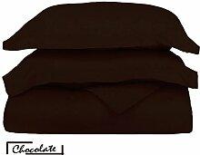 Ägyptische Baumwolle 600-thread-count 1Bettbezug/Quilt Cover {Taste Schließung} wählen Sie Farbe und Größe (alle Größen und Farben), ägyptische Baumwolle, schokoladenbraun, Euro King