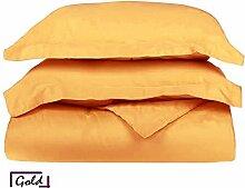 Ägyptische Baumwolle 600-thread-count 1Bettbezug/Quilt Cover {Reißverschluss} wählen Sie Farbe und Größe (alle Größen und Farben), ägyptische Baumwolle, gold, UK Super King
