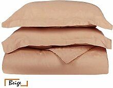 Ägyptische Baumwolle Scala 1Bettbezug/Quilt Cover {Reißverschluss} wählen Sie Farbe und Größe (alle Größen und Farben), ägyptische Baumwolle, beige, Doppelbe