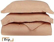 Ägyptische Baumwolle Scala 1Bettbezug/Quilt Cover {Taste Schließung} wählen Sie Farbe und Größe (alle Größen und Farben), ägyptische Baumwolle, beige, Euro Extra Small Single