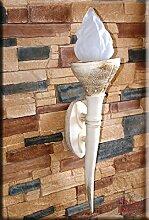 Ägyptische Fackel Lampe Wandlampe Wandfackel