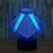 Ägyptische Geheimnisvolle Pyramide 3D Lampe Led