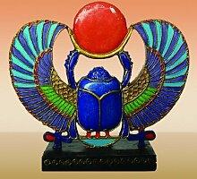 Ägyptische Mini geflügelten Skarabäus mit Rot