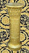 Ägyptische Säulen Pharao Art 90cm Medusa Säule Mäander Style Figuren Art Dekosäule 80cm Griechische Säulen Barock Podest Gartensäule Figurensäule 1056 k 50 GOLD Kunstharz ( ALLWETTER FEST )