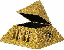 Ägyptische Schmuckdose Pyramide goldfarbend