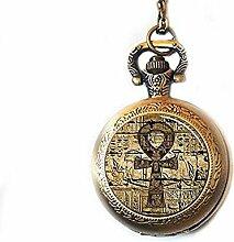 Ägyptische Taschenuhr-Halskette, ägyptische