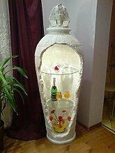 Ägyptische Vitrine Bar Vase Amphore Rundregal Regal Eckvitrine Mäander