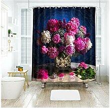Aeici Bad Vorhang Schöne Blumen Duschvorhang mit