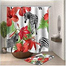 Aeici Badematte Klein 40X60 Zebra-Blume WC