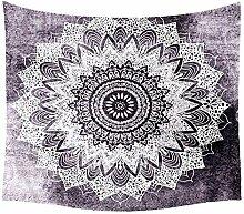 Aeici Tapisserie Vorhang Grauweiß Mandala