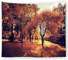 Aeici Tapisserie Vorhang Herbstwald Wandtuch