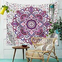 Aeici Wandteppich für Wohnzimmer Blume Wandbehang