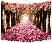 Aeici Wandteppich für Wohnzimmer Blumenstraße