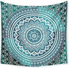 Aeici Wandteppich für Wohnzimmer Grünes Blaues