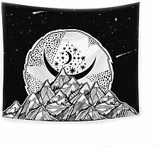 Aeici Wandteppich für Wohnzimmer Nacht Mondsterne