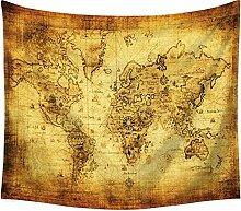 Aeici Wandtuch für Die Wand Weltkarte Tapisserie