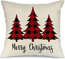 AENEY Weihnachts-Kissenbezug, 45,7 x 45,7 cm,