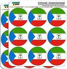 Äquatorialguinea National Land Flagge 5cm (5,1cm) Scrapbooking, Aufkleber