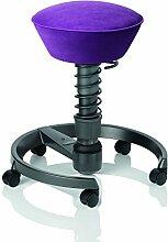 aeris swopper CLASSIC ergonomischer Bürostuhl mit Rollen | Sitzbezug Mikrofaser violet | Feder medium (60-120 kg) | Basisfarbe anthrazit | höhenverstellbarer Gesundheitsstuhl, Drehhocker, Computerstuhl