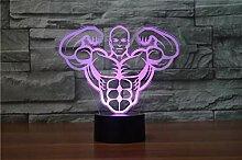 Aerobic Muscle Touch Tischlampe 7 Farben Ändern