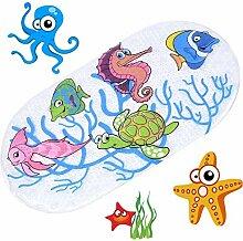 Aeromdale Kinder Badematte, Rutschfest, mit