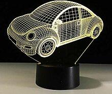 Aetd Schreibtischlampen Bunte Käfer Auto 3D Led