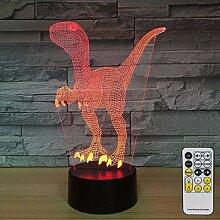 Aetd Schreibtischlampen Dinosaurier 3D
