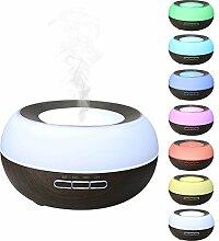 Ätherisches Öl Diffusor, EIVOTOR 300mL Aromatherapie Duftzerstäuber mit 7 Farbwechsel LED Humidifier mit Selbstabschaltungsfunktion Ultraschal Aroma Luftbefeuchter für Zuhause, Büro, Yoga, Spa