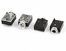 Aexit 4 Stk 3,5mm Innen 5 Pins Stereo Kopfhörer Interieur PCB Montage Audio Steckdose