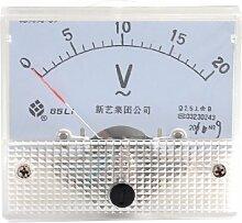 Aexit Beige-Kopf Schraube Montage Voltage Test AC 20 V Analog Voltmeter Panel