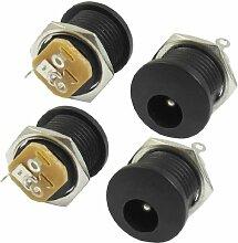 Aexit DC022 2.1x5.5mm Kopfhörer DC Strom Buchse Leiterplattenmontage Verbinder 4 Stk