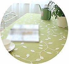 AEXU Gemütlich Bestickte Tischdecke Baumwolltuch