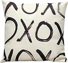 Aeykis Letter Love Words Throw Pillow Case Cover
