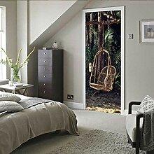 Afashiony 3D Tür-Wand-Aufkleber,Türaufkleber
