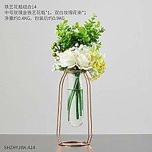 afbaby Europäische Glas Reagenzglas Vase