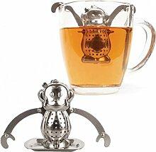 Affe Teesieb mit Untersetzer - Teeei Teefilter