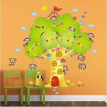 Affen Baum Wandaufkleber Tier Klettern Der Baum
